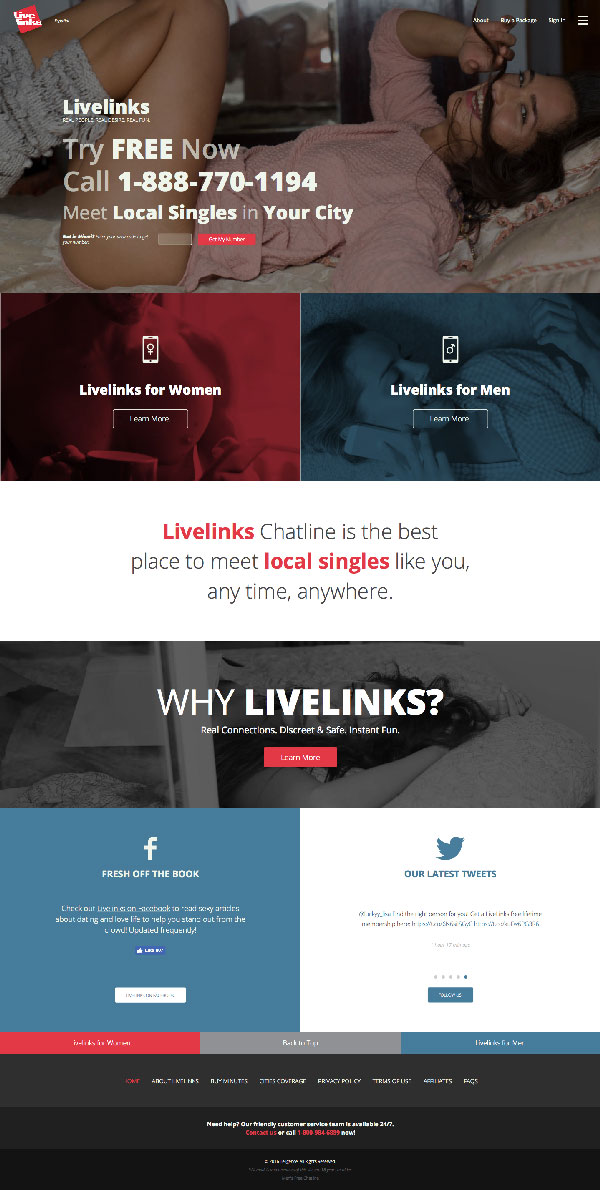 Screenshot of Livelinks.com