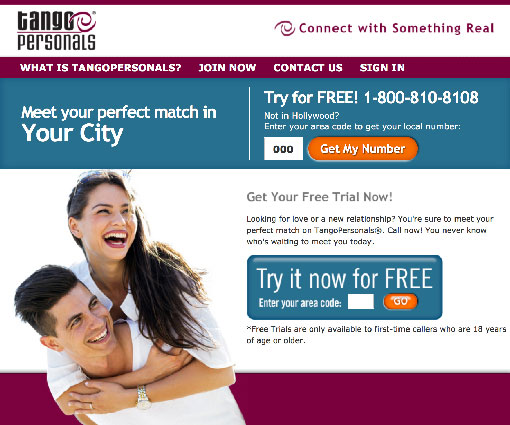 Free trial dating chat line numbers