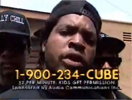 Ice Cube Line: 1-900-234-CUBE
