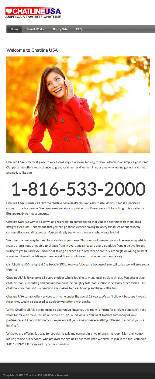 Local singles chat line free trial