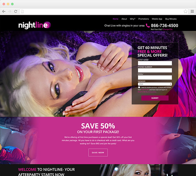 Screenshot of Nightline.com