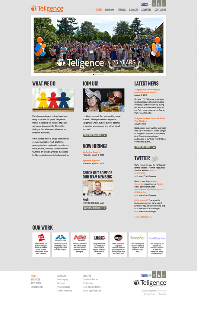 Teligence.net Website Screenshot