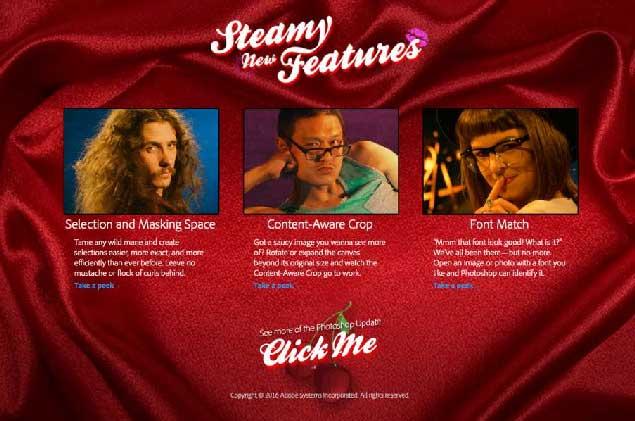 Screenshot of Adobe's 1-900-U-UPDATE.com Phone Sex Parody Website