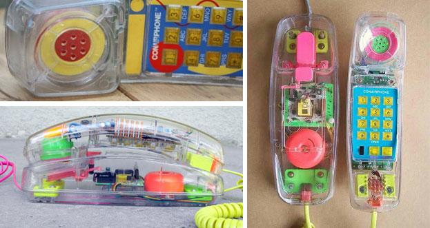 Conair Clear Plastic Novelty Phone