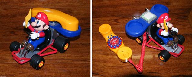 Nintendo's Mario Kart Vintage Phone Set