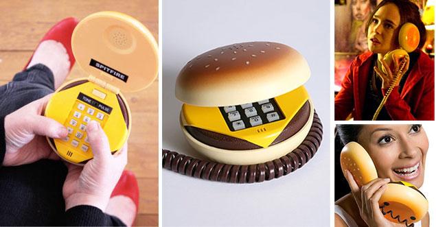 Hamburger-shaped phone set