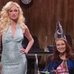 Paris Hilton and Amy Schumer in The Nerd Chatline SNL Sketch
