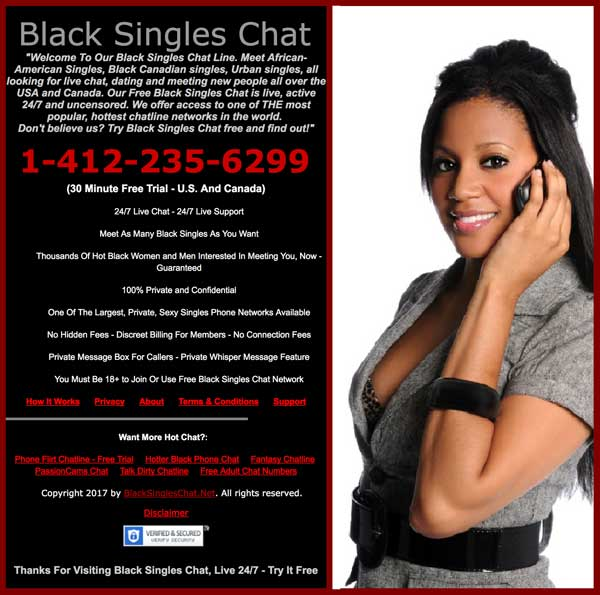 Black singles chat website screenshot