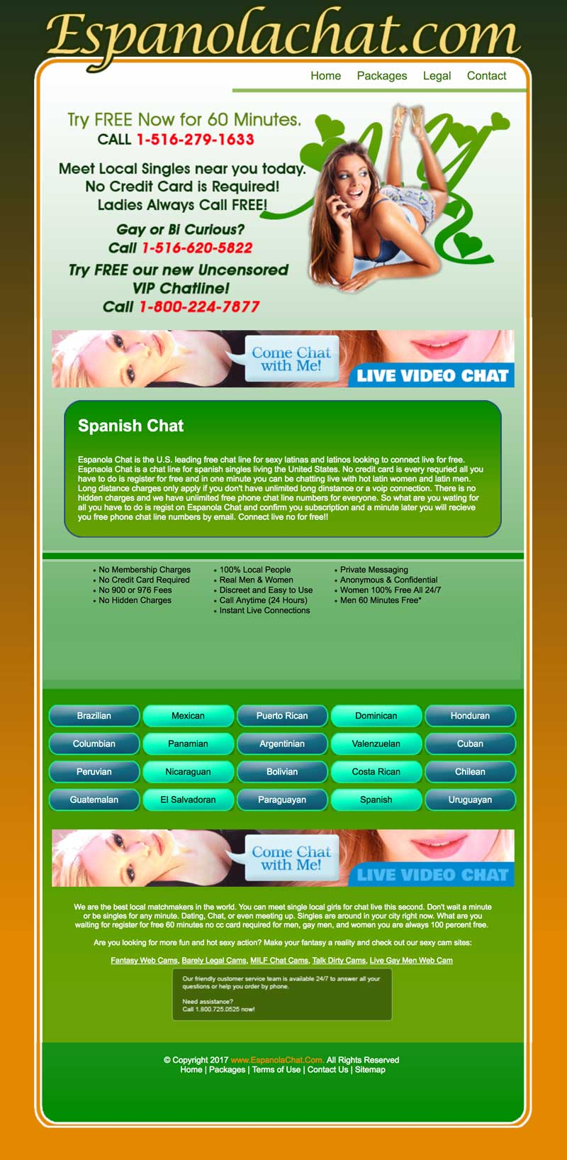 A Screenshot of EspanolaChat's Website