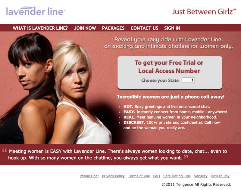 Lavenderline Website Screenshot
